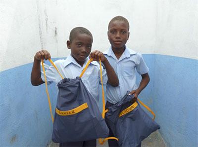 Backpacks at Jehova Nissi School